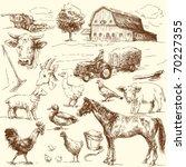 original hand drawn farm...   Shutterstock .eps vector #70227355