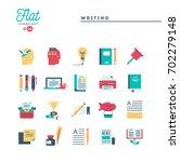 writing  blogging  best seller... | Shutterstock .eps vector #702279148