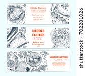 middle eastern cuisine ... | Shutterstock .eps vector #702281026