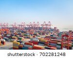 shipping container terminal at...