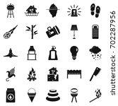 drought icons set. simple set... | Shutterstock .eps vector #702287956