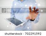 empty search bar. web site  url.... | Shutterstock . vector #702291592