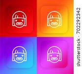 sad woman four color gradient...