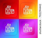 skincare four color gradient...