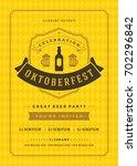 oktoberfest beer festival... | Shutterstock .eps vector #702296842