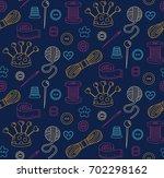 sewing dress making hand made... | Shutterstock .eps vector #702298162