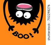 screaming monster head... | Shutterstock .eps vector #702298276