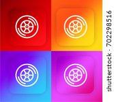 car wheel four color gradient...