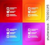 test exam four color gradient...