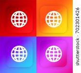 internet grid four color...