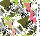seamless pattern with... | Shutterstock .eps vector #702301792