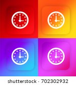 wall clock four color gradient...