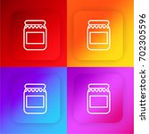 jar of jam four color gradient...