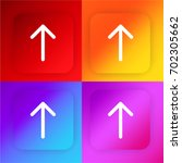 arrow pointing to up four color ...