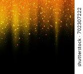 gold glitter stardust... | Shutterstock .eps vector #702307222