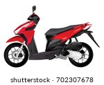 red realistic scooter... | Shutterstock .eps vector #702307678