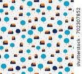 cute seamless vector pattern... | Shutterstock .eps vector #702307852