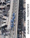 sydney harbour bridge climbers... | Shutterstock . vector #702307855
