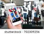 augmented reality marketing... | Shutterstock . vector #702309256