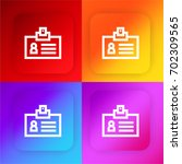 id card four color gradient app ...