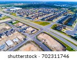 aerial drone view above austin... | Shutterstock . vector #702311746