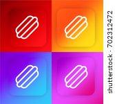 hot dog four color gradient app ...