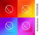 ball four color gradient app...