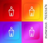 street lamp four color gradient ...