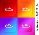 shoe four color gradient app...
