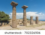 ruins of the temple of athena... | Shutterstock . vector #702326506