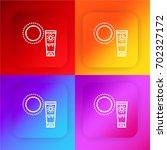 sun cream four color gradient...
