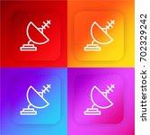 satellite dish four color...