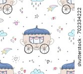 seamless pattern with fairy... | Shutterstock .eps vector #702334222