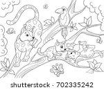 childrens coloring book cartoon ...   Shutterstock . vector #702335242