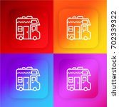 caravan four color gradient app ... | Shutterstock .eps vector #702339322