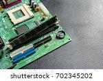 computerchip  technology and... | Shutterstock . vector #702345202