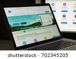 milan  italy   august 10  2017  ... | Shutterstock . vector #702345205