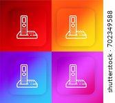 phone four color gradient app...
