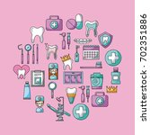 icon set dentist profession | Shutterstock .eps vector #702351886