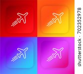 aeroplane four color gradient...