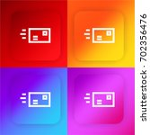 letter four color gradient app...