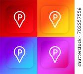 parking four color gradient app ...