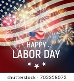 labor day in usa poster... | Shutterstock .eps vector #702358072
