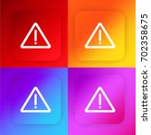 warning four color gradient app ...