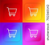 shopping cart four color...