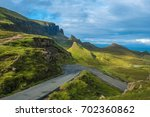 dramatic landscapes of the... | Shutterstock . vector #702360862