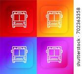 bus four color gradient app...