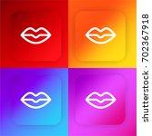 lips four color gradient app...
