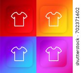 t shirt four color gradient app ...