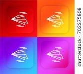paper plane four color gradient ...